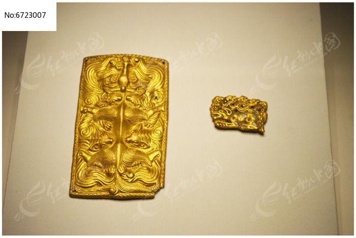 战国时期鎏金饰件图片