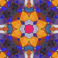 染色玻璃拼花设计