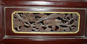 树枝上的鸟镂空雕刻-木雕艺术