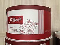 玫瑰心语生日蛋糕盒