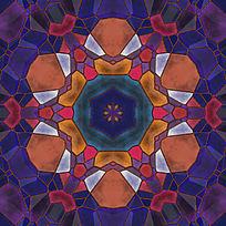 染色玻璃拼花底图
