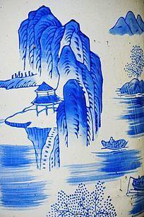 山水陶瓷画