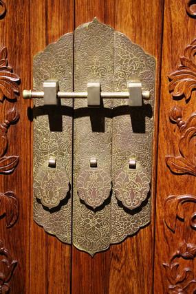 铜雕仿古家具锁扣