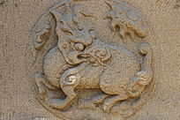 麒麟图案石刻
