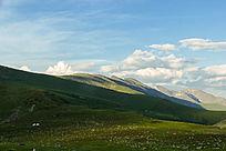 草原山峰山脉风景素材图