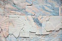 古代礼仪壁雕