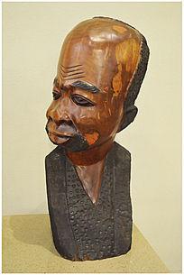 老人头非洲马孔德现代艺术雕刻