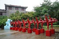 李小龙雕塑城市景观