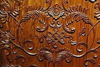 酸枝木木雕中国结花卉纹