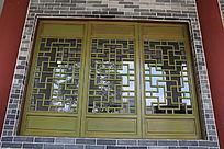 中式花格仿古木窗