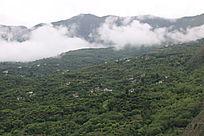 丹巴梭坡自然风光的山峰