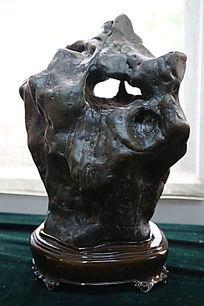 褐色油状奇石