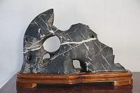 灰色白纹奇石