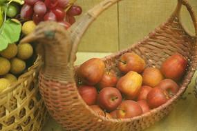 苹果小鸟形水果篮