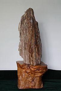 山峰状树化石奇石