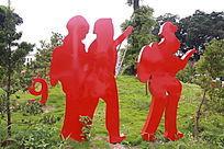 消防主题公园人物雕塑