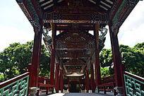 清朝建筑风格长廊