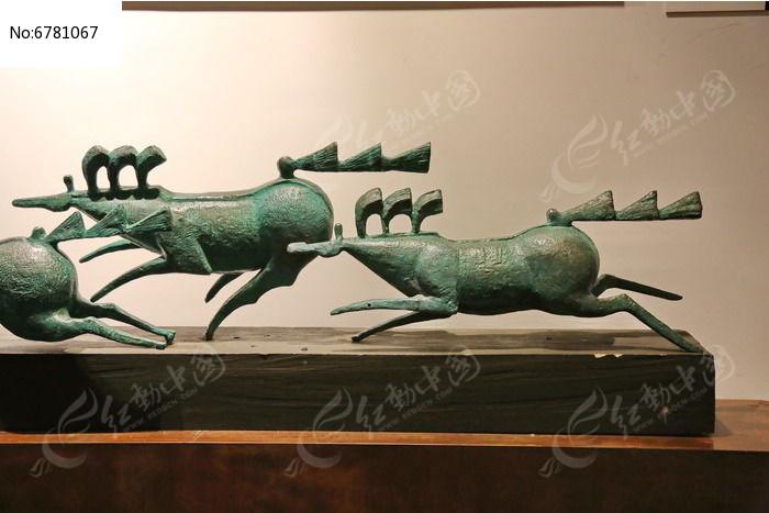 手工制品石质奔驰的马图片
