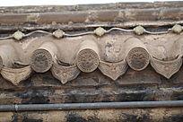 贝子庙建筑上的瓦当图案