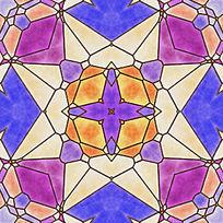 染色玻璃拼花