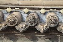 锡林郭勒贝子庙建筑上的瓦当图案