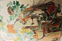 凤凰瓷器纹理