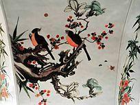 花鸟瓷器纹理