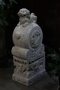 狮子石鼓石墩