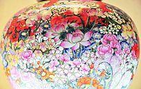 中国古代繁花似锦纹理瓷器