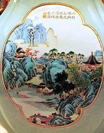 中国山水瓷器