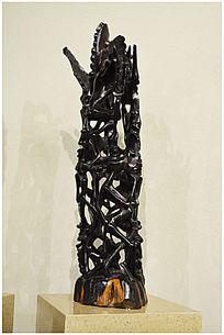 非洲马孔德现代艺术雕刻