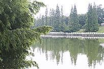 辽阔清澈的湖水