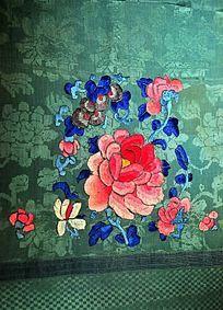 牡丹刺绣图