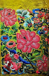 清代刺绣花卉图案