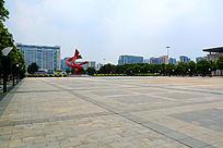 中心广场的美丽风景
