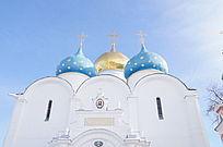 谢尔盖圣三一大教堂建筑风景