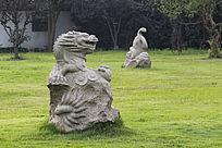大龙小龙雕塑