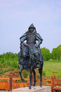 蒙古骑兵雕塑