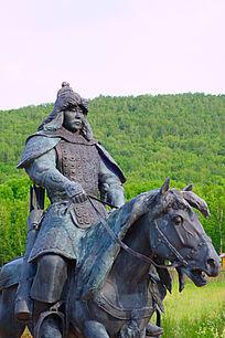 蒙古骑兵雕塑艺术