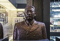 鞍钢展览馆雕塑劳动模范王之玺蜡像