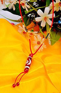 红绳子复古饰品长项链