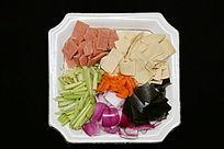 家常菜烩炒洋葱芹菜海带皮
