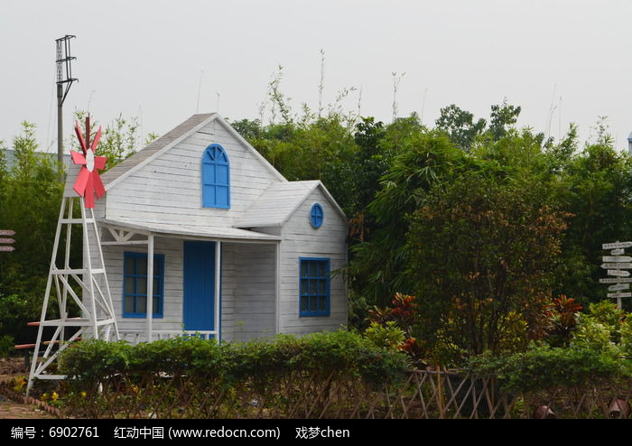 卡通童话房屋风景图片图片