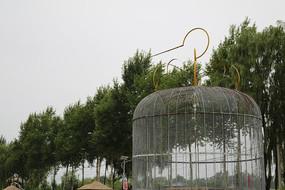树与鸟笼子