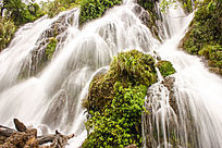 瀑布山川风景