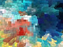现代风格客厅3D背景墙壁画