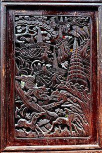 传统吉祥木窗雕花