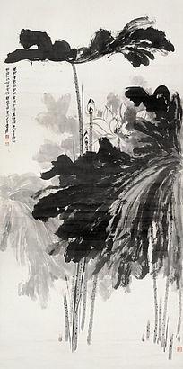 高清国画《墨荷图》