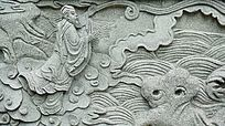 古老石壁故事画