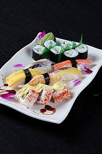 寿司小拼盘上视图